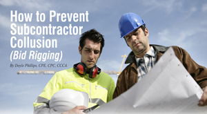 How To Prevent Subcontractor Collusion Bid Rigging Construction Workzone